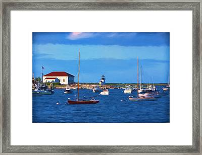 Brant Point Lighthouse Framed Print by Kim Hojnacki