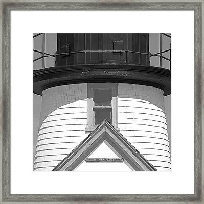Brant Point Lighthouse Nantucket Framed Print by Charles Harden