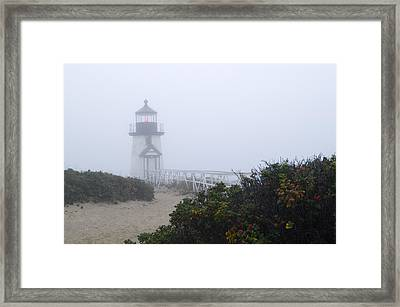 Brant Point Mist - Nantucket Framed Print