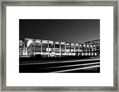 Brasilia - Itamaraty Palace - Black And White Framed Print