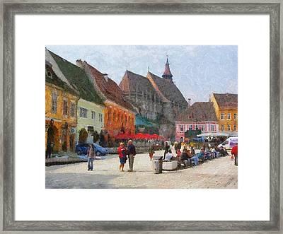 Brasov Council Square Framed Print