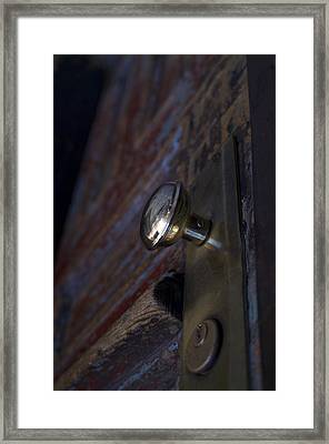 Brass Door Knob I Framed Print