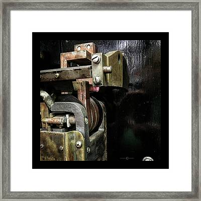 Brass Fittings Framed Print