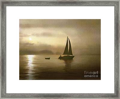 Brass Sail Framed Print by Robert Foster