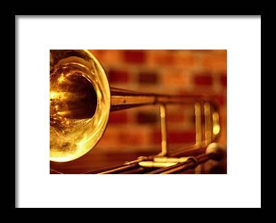 Trombone Framed Prints