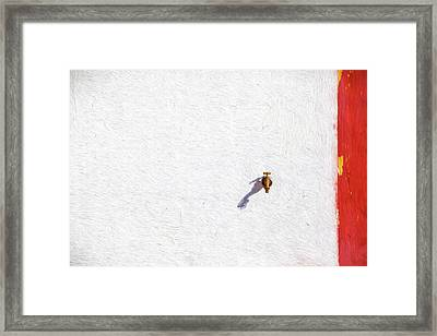 Brass Water Spicket Framed Print by David Letts