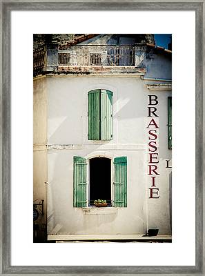 Framed Print featuring the photograph Brasserie by Jason Smith