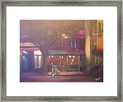 Brasserie Framed Print by Victoria Heryet