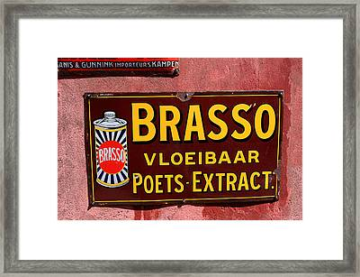 Brasso Advertising Sign Framed Print by Aidan Moran