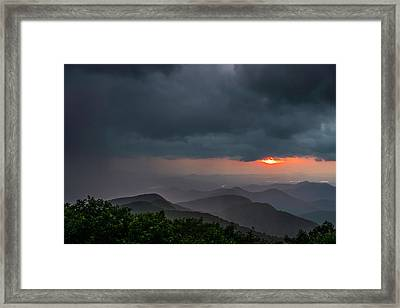 Framed Print featuring the photograph Brasstown Bald Sunset by Michael Sussman