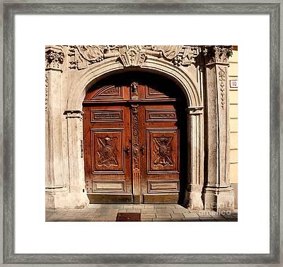 Bratislava Doors Framed Print