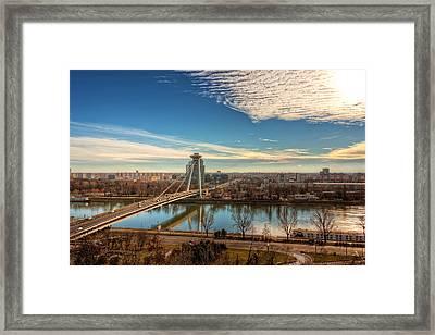 Bratislava Skyline - Slovakia Framed Print