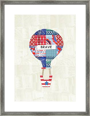 Brave Balloon- Art By Linda Woods Framed Print by Linda Woods