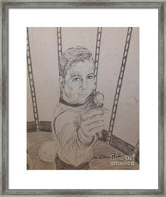 Brave Kirk Framed Print by N Willson-Strader