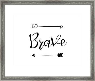 Brave Framed Print by Nancy Ingersoll