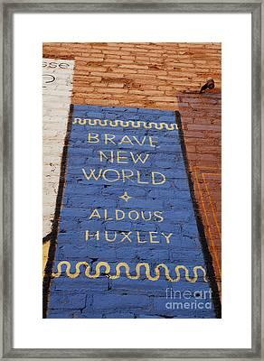 Brave New World - Aldous Huxley Mural Framed Print by Steven Milner
