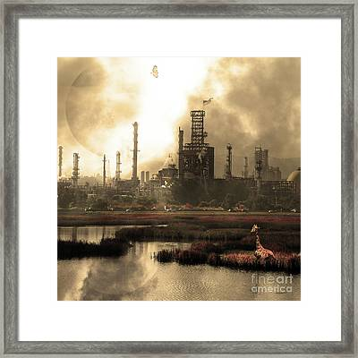 Brave New World 7d10358 V3 Square Sepia Framed Print by Wingsdomain Art and Photography