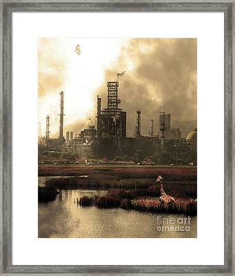 Brave New World 7d10358 V3 Vertical Sepia Framed Print by Wingsdomain Art and Photography