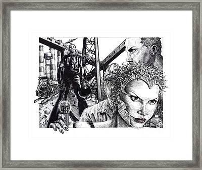 Brave New World Framed Print by Adesina Sanchez