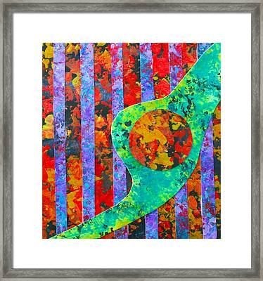 Framed Print featuring the painting Brave New World by Polly Castor