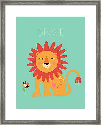 Brave Framed Print by Nicole Wilson
