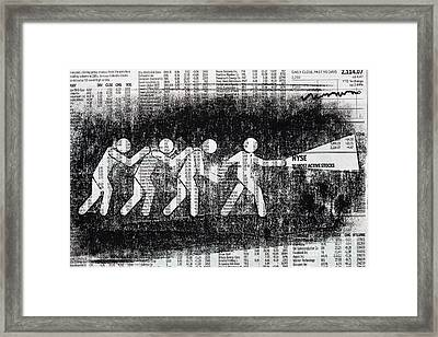 Brave Stock Broker Framed Print