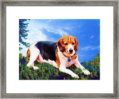 Bravo The Beagle Framed Print