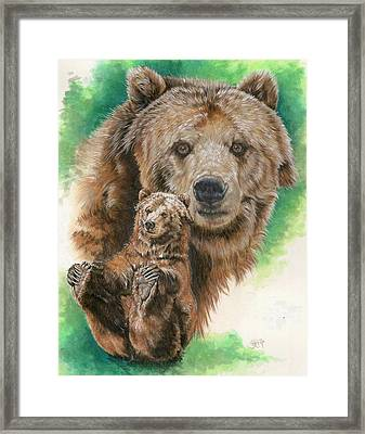 Framed Print featuring the painting Brawny by Barbara Keith
