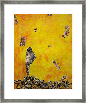 Framed Print featuring the painting Brazen by Geraldine Gracia