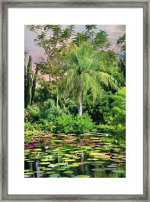 Brazilian Garden Framed Print by Lori Deiter