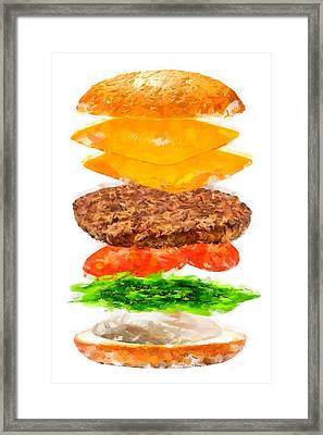 Brazilian Salad Cheeseburger Framed Print