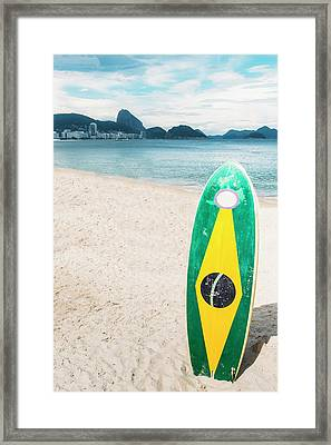 Brazilian Standup Paddle Framed Print