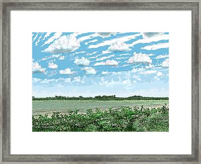 Framed Print featuring the digital art Brazoria County Field by Kerry Beverly
