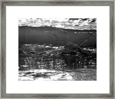 Breach Inlet Morning Waves 2 Framed Print by Melissa Wyatt