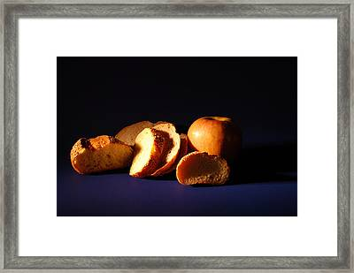 Bread And Apple Framed Print by William Thomas
