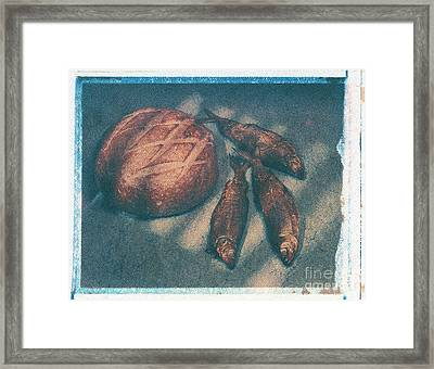 Bread And Fish Framed Print by Jim Wright
