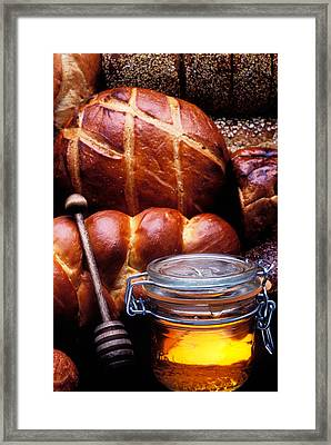 Bread And Honey Framed Print by Garry Gay