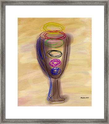 Bread And Wine Framed Print