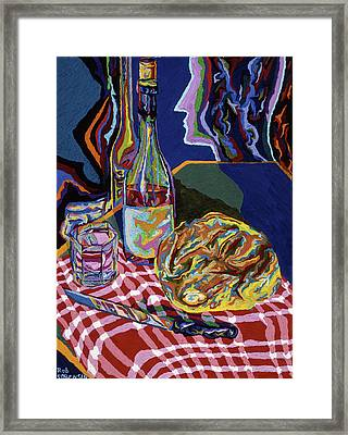 Bread And Wine Of Life Framed Print by Robert SORENSEN