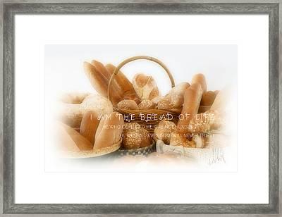 Bread Arrangement #2 - With Scripture Framed Print