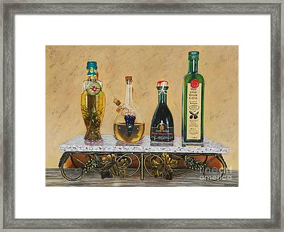 Bread Dippings Framed Print