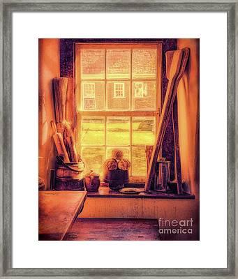 Bread In The Window Framed Print