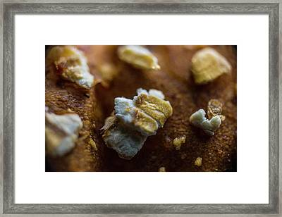 Bread Macro Food Framed Print