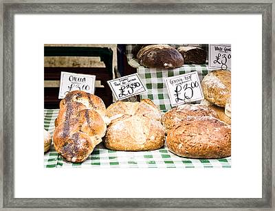 Bread Stall Framed Print by Tom Gowanlock
