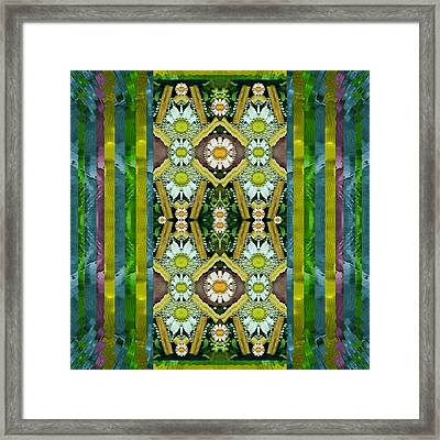 Bread Sticks And Fantasy Flowers In A Rainbow Framed Print
