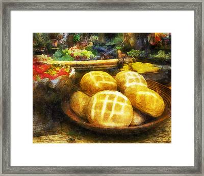 Bread Table Framed Print by Francesa Miller