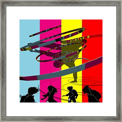 Break Dancer And Friends Framed Print by Clive Littin