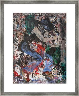 Break Dancin' In The Rain Framed Print by Penfield Hondros