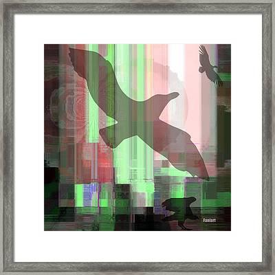 Framed Print featuring the mixed media Break Free by Fania Simon