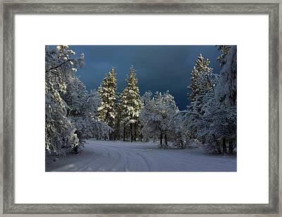 Break In The Storm Framed Print by James Eddy